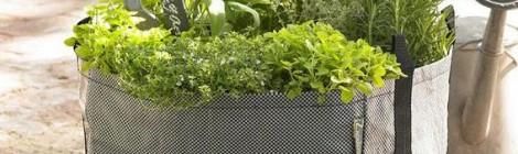 Cubrir la cubierta con jardineras