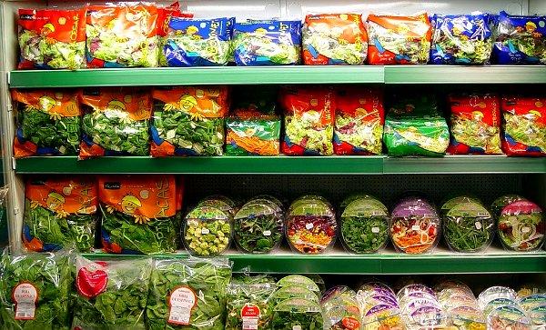 verduras en plastico